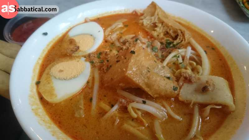 Laksa is another influence from Malay and Chinese cuisine.