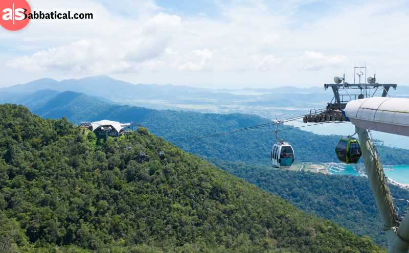 The cable car is the best place to get the best panoramic view of the beautiful Langkawi.