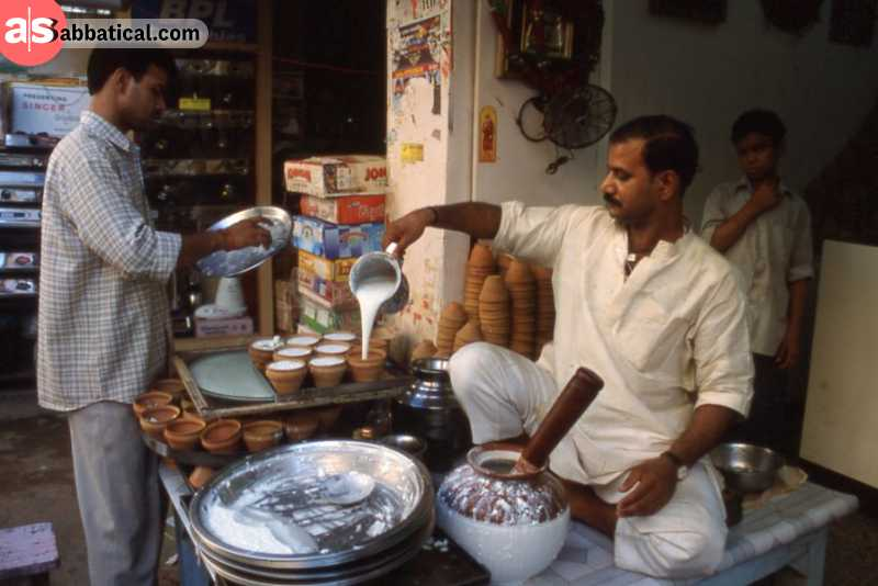 A Lassi shop in Pakistan.