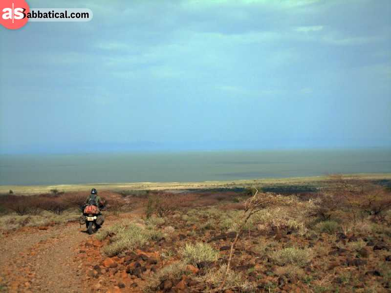The epic view of Lake Turkana in Kenya.