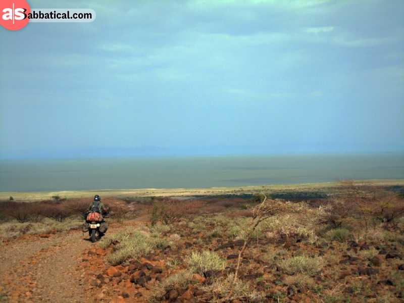 The epic view of Lake Turkana in Kenya.