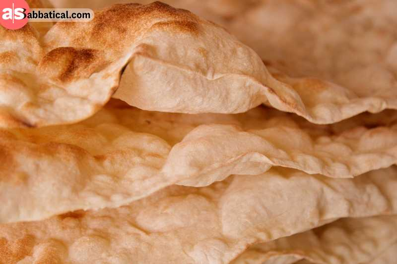 Traditional bread baked in clay tandoor. Lavash is an unleavened type of bread, made from wheat flour and spring water.