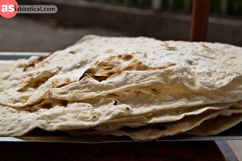 Lavash is the most common Caucasian bread.