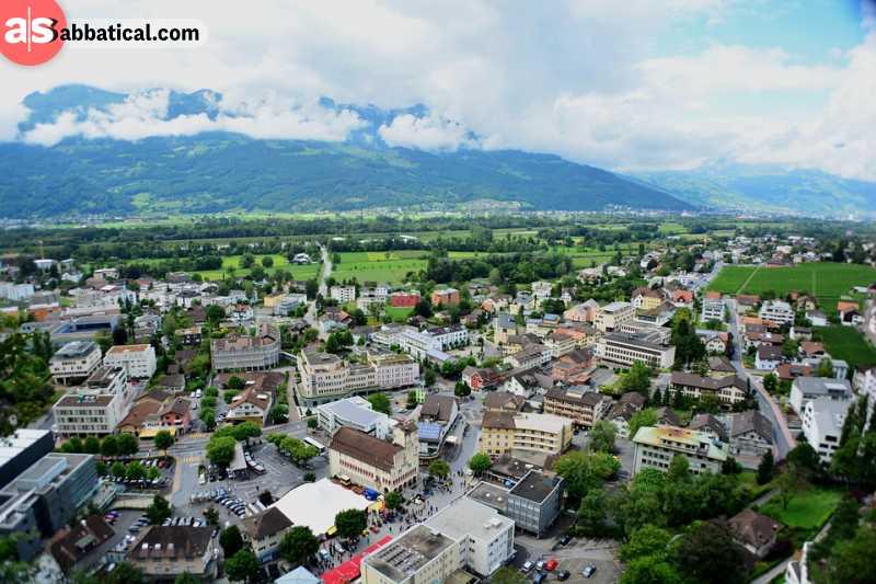 Breathtaking vista seen above Vaduz.