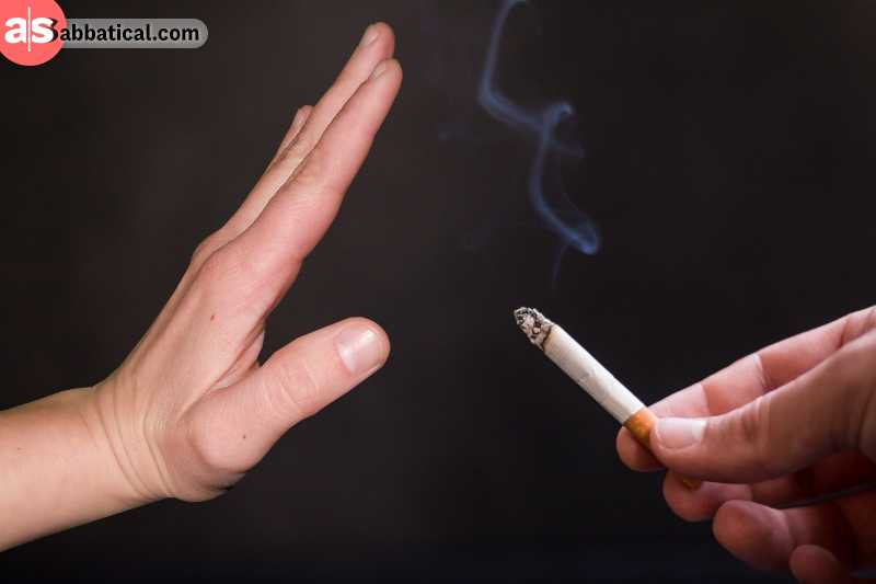 One of the most common life temptations is smoking.