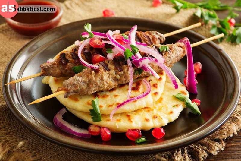 Lyulya Kebab is a lamb kebab cooked on skewers. It's not the only kebab you can find in Azerbaijan, but it is the best one.