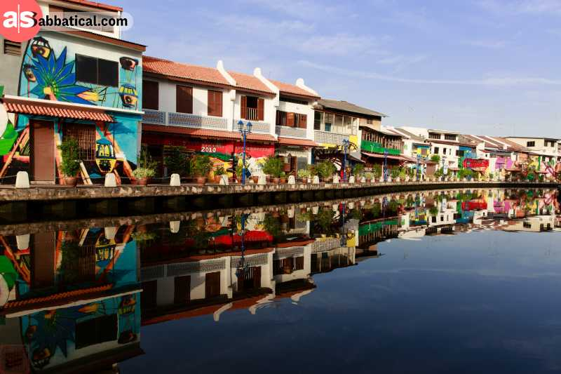 The architecture of Malacca reflects its vibrant culture and history.