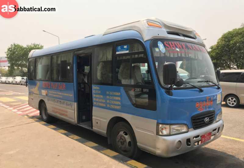 Bus in Mandalay