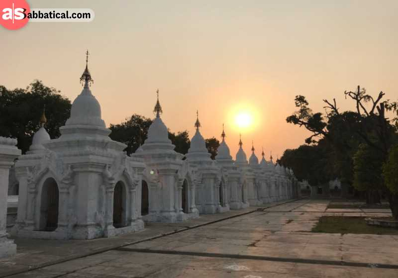 Sunset over the temple