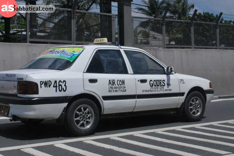 Taking a taxi in Manila is the most comfortable way to get around this huge city, but be prepared to negotiate for a price.