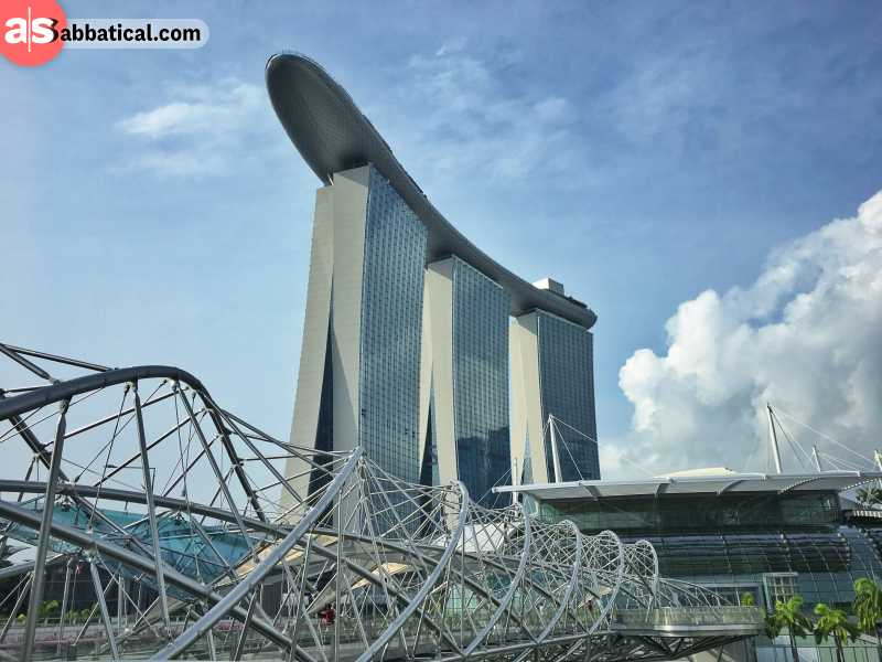 Marina Bay is most probably the most iconic building in Singapore.