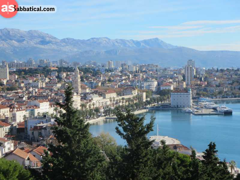 View from Marjan, a great hill to hike on that overlooks the beautiful Split.