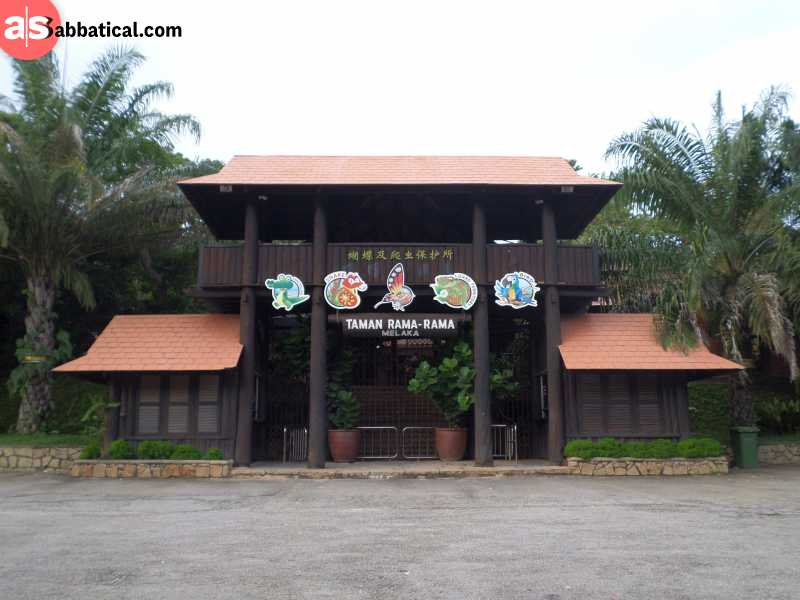 The entrance to the Melaka Butterfly and Reptile Sanctuary.