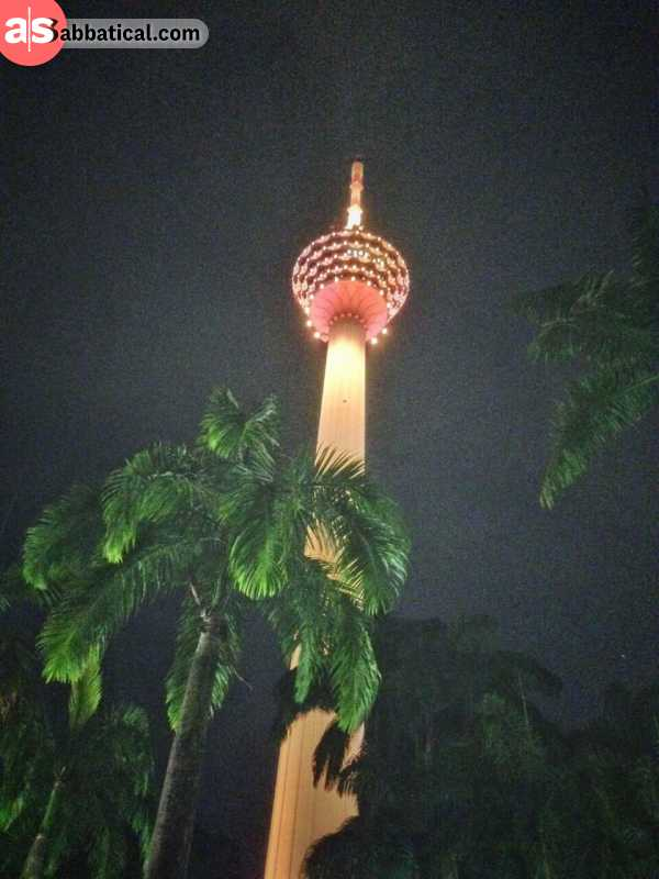 Menara KL Tower at night is a sight to behold.