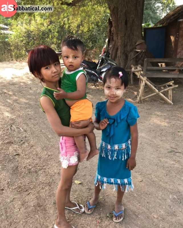 Local kids in Mingun