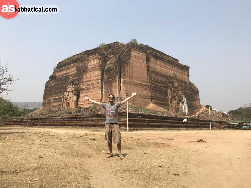 The unfinished Mingun Pagoda is one of the largest in Myanmar.