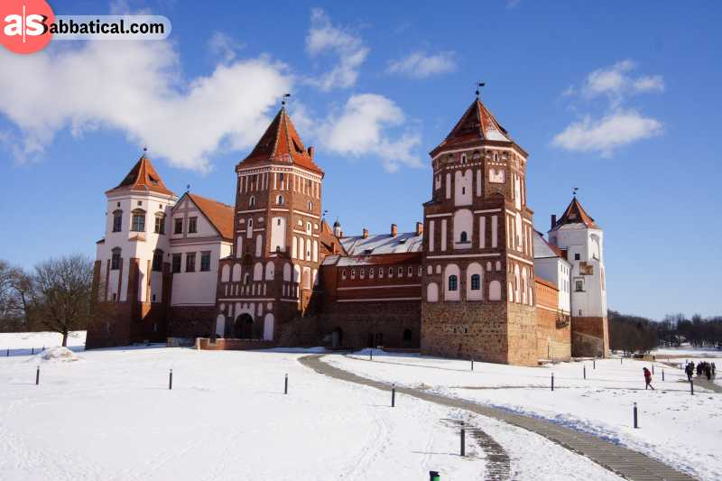 Mir Castle is a beautiful example of Gothic,Baroque and Renaissance architectural influences.