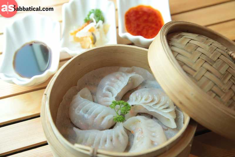 Momos are a favorite snack food in Bhutan.