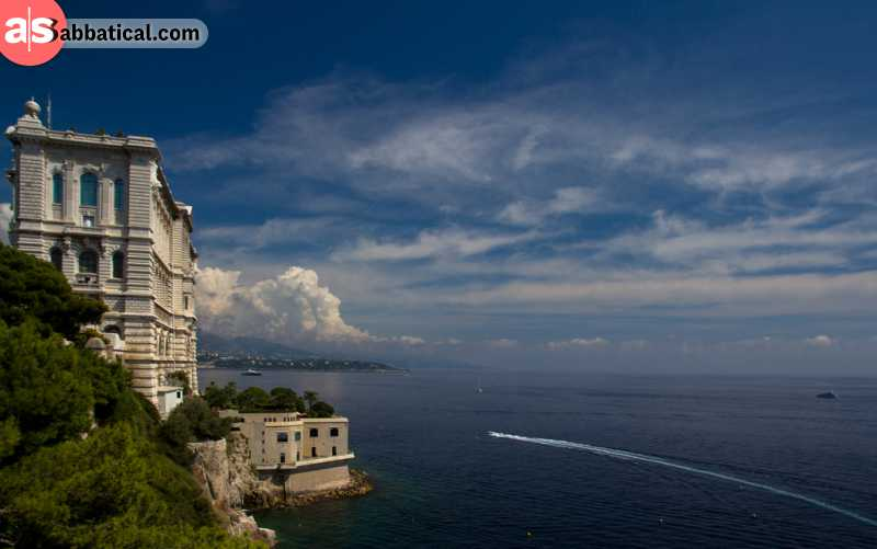The Oceanographic Museum in Monaco is located at the beautiful location, and you can visit it even on a low budget!