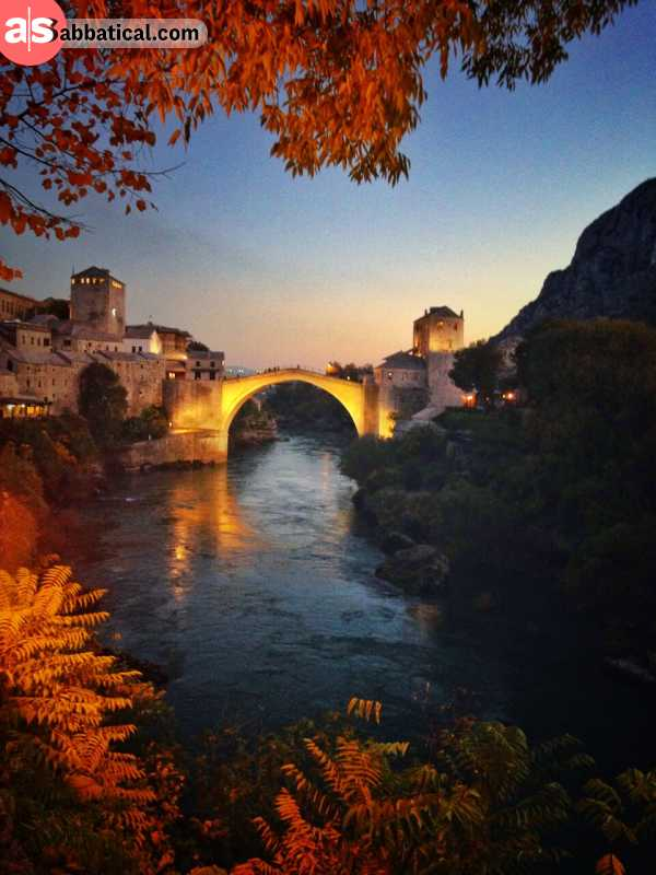 Mostar Old Bridge is immensely beutiful, and watching the local divers jump in the Neretva River is awe-inducing.