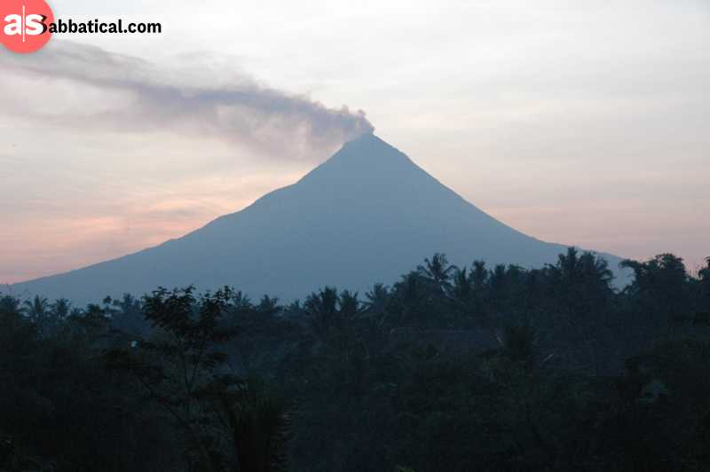 One of the interesting facts about the towering Mount Merapi is that is has erupted regularly since 1548.