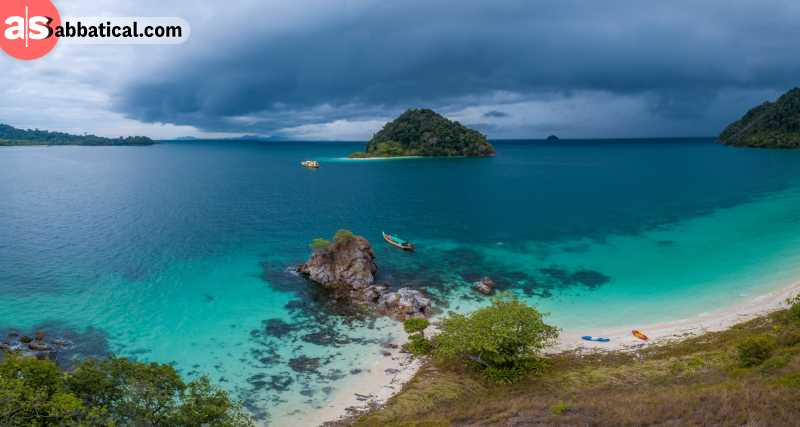 Myeik Archipelafo is made of over 800 islands.