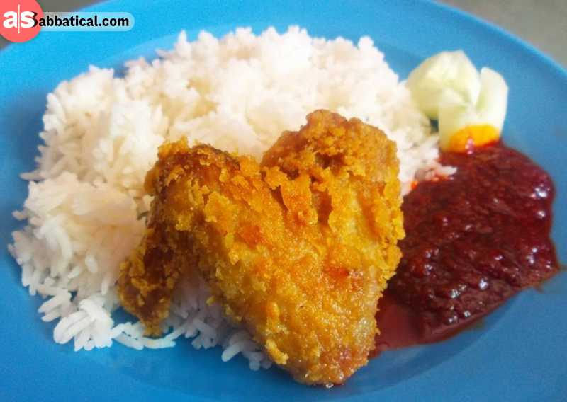Nasi Katok is probably the most popular street food of Brunei.