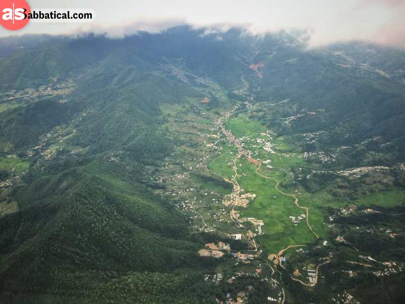 Kathmandu from above