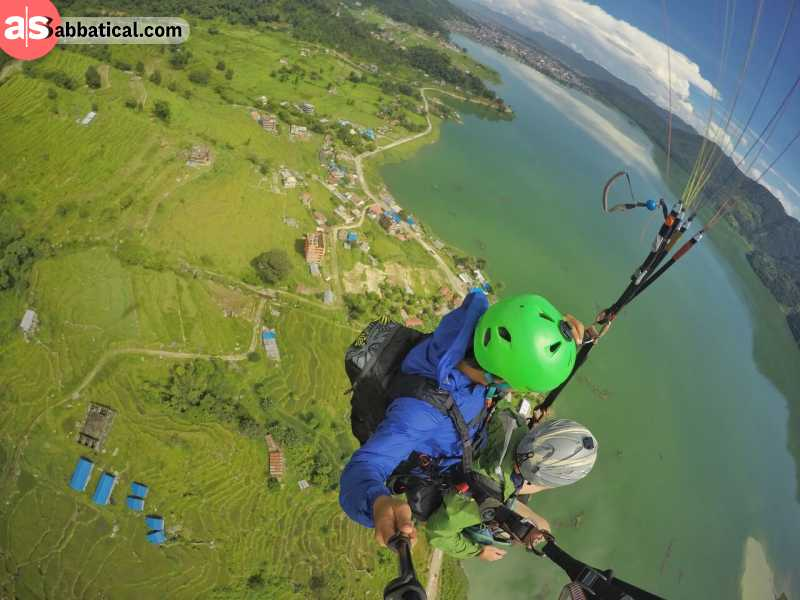 Paragliding in Nepal is a great way to spice your journey up with a bit of adventure!