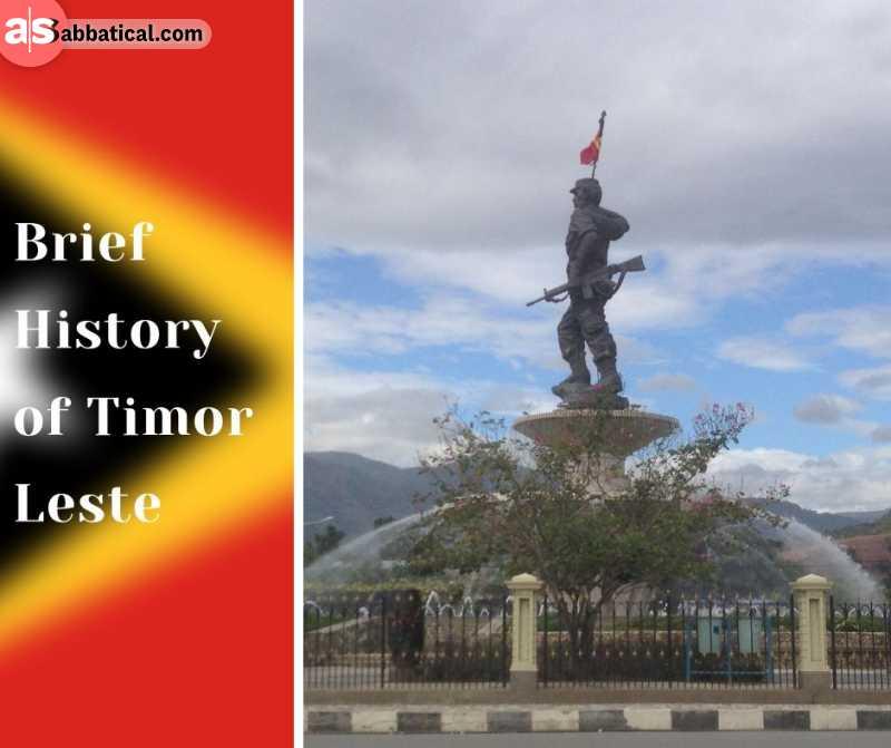 The statue of Nicolau Lobato commemorates the national hero of Timor Leste.