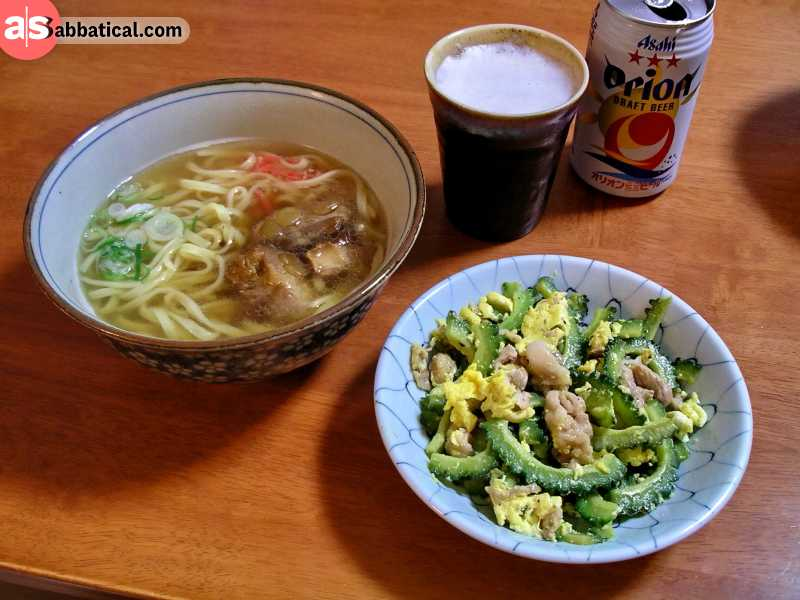 Okinawa is called the Blue Zone thanks to the healthy local food.