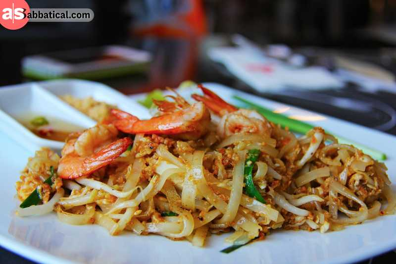 The delicious Pad Thai noodle dish.