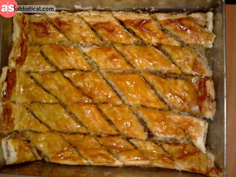Pakhlava is the Georgian version of Baklava.