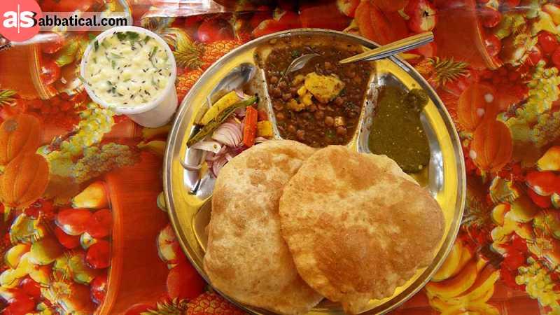 A standard breakfast in Pakistan.