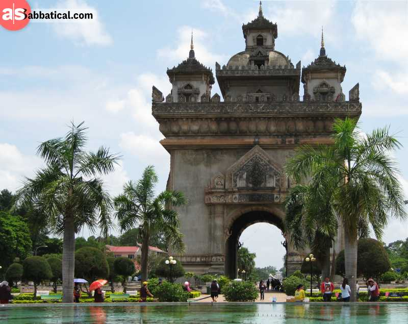 Patuxai is a marvelous example of colonial architecture in Vientiane.