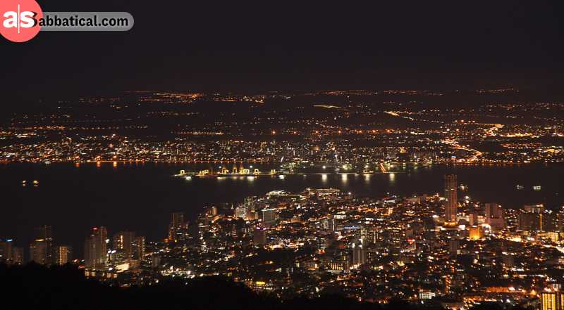 Take a cable car to the top of the Penang Hill to have a magnificent panoramic view over Penang Island.