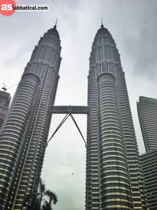 The height of the Petronas Towers is 452 meters.