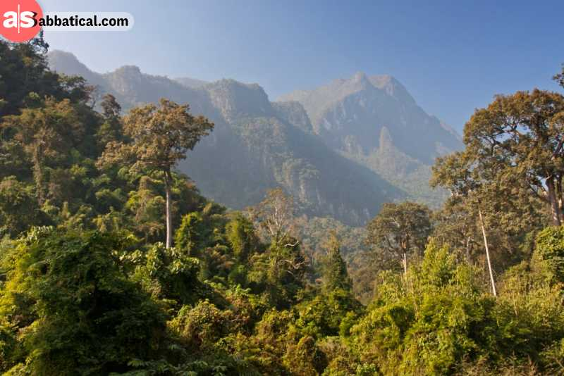 The Chiang Dao mountain is a part of Pha Daeng National Park.