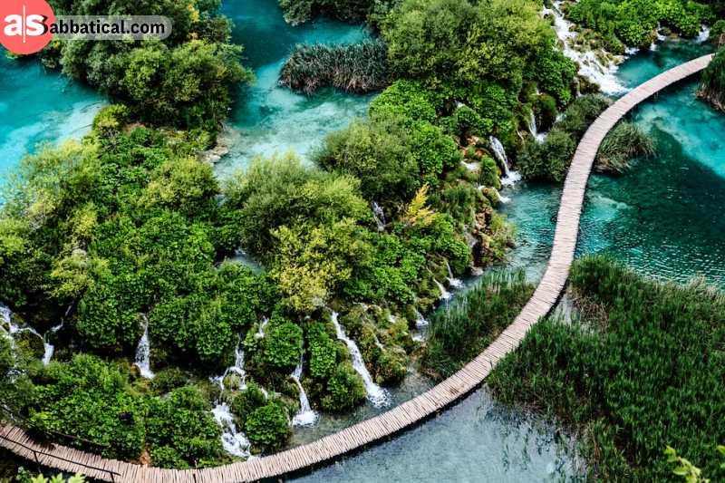 Walk through breathtaking nature in Plitvice national park