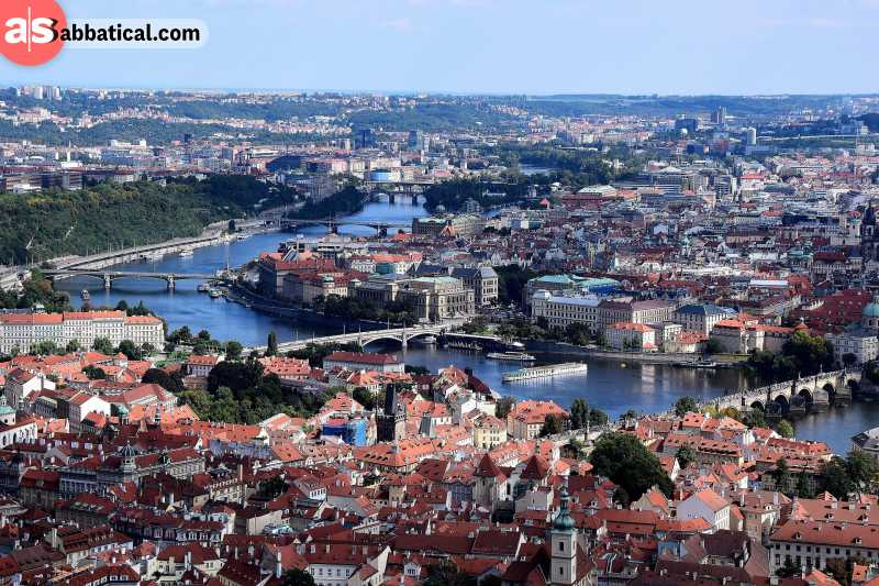 Prague has many a viewpoint around, and when you see the city from one of them, you will realize why it's called a city of thousand spires.