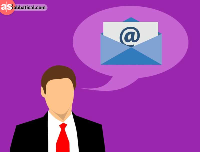 Use a professional email address for business, and your regular one for personal life.