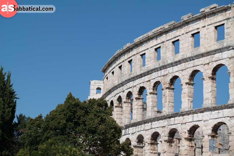 Pula is mostly known for its amphitheater