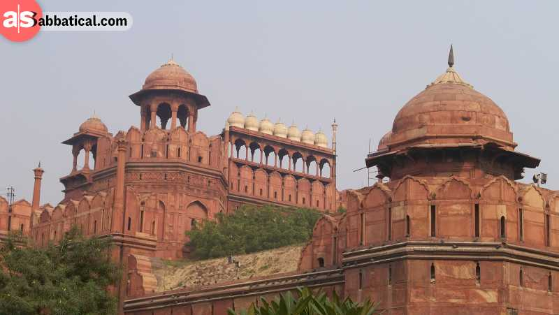 The majestic Red Fort in Delhi was built by Shah Jahan, the 5th Mughal Emperor.
