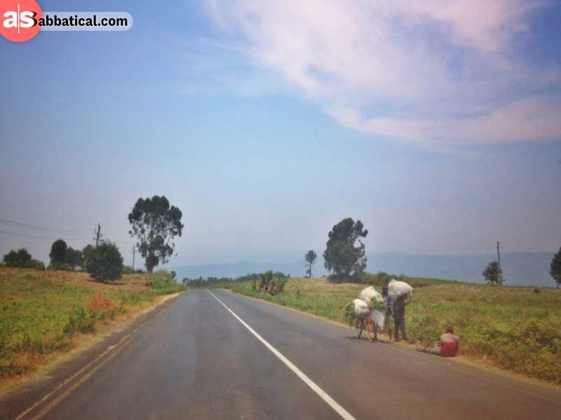 Scenic road in Tanzania