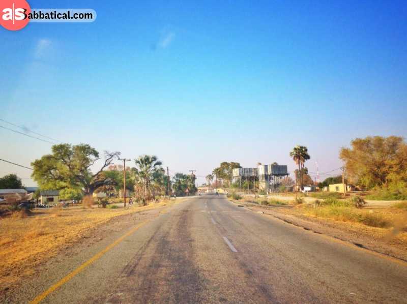 Scenic roads in Botswana