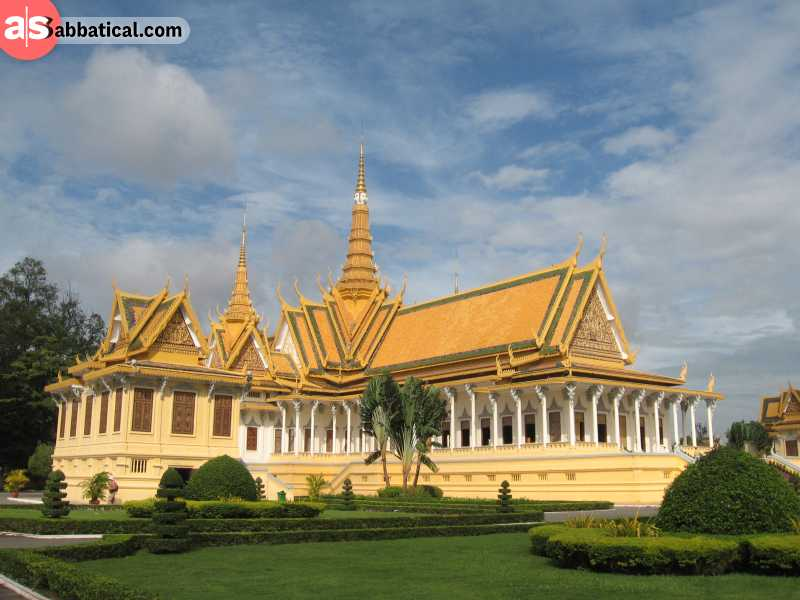 Royal Palace in Phnom Penh is the royal residence of the current king of Cambodia.