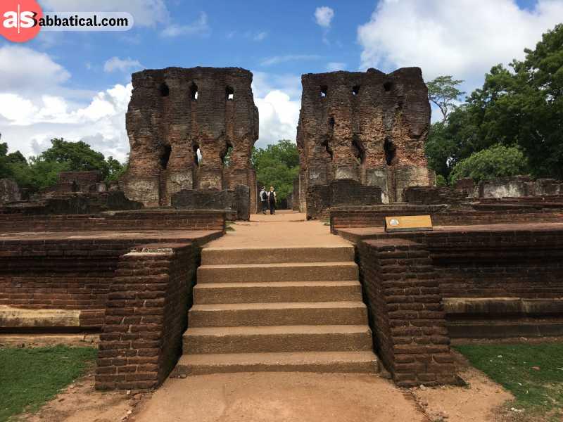 The Royal Palace ruins in Polonnaruwa.