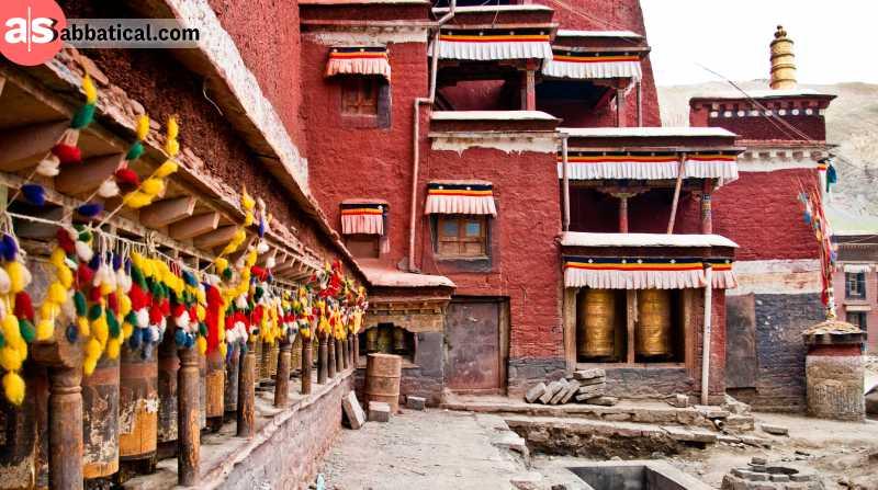 Sakya Monastery and its amazing architectue.