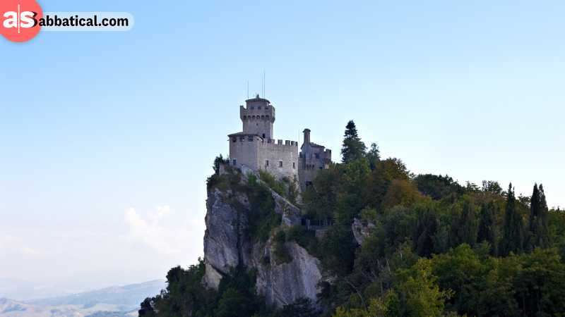 The tower at the top of De La Fratta is one of the well-known San Marino attractions.