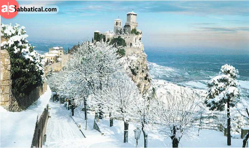 A great way to experience the culture of San Marino is to visit on winter.
